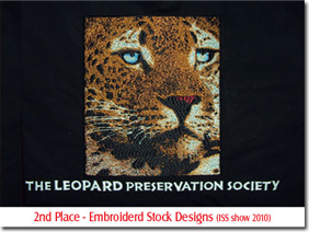 2nd Place - Embroidered Stock Designs (ISS show 2010)